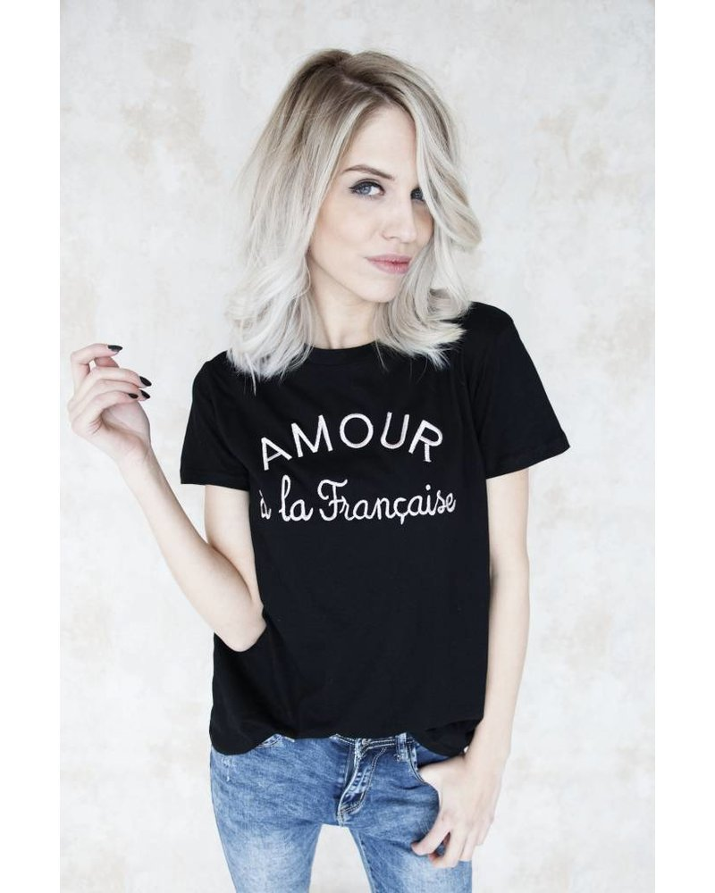 AMOUR BLACK/PINK - T- SHIRT