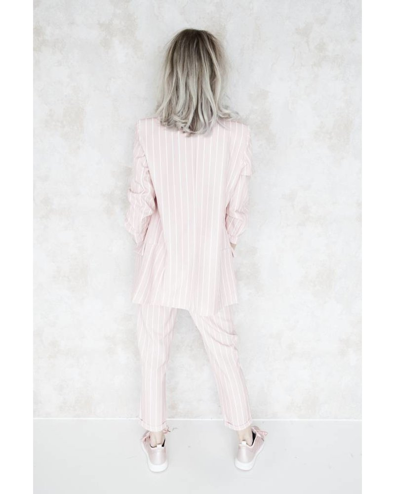 SUZY STRIPED PINK - SET OF 2
