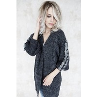CUTE BRAIDED DARK GREY - GILET