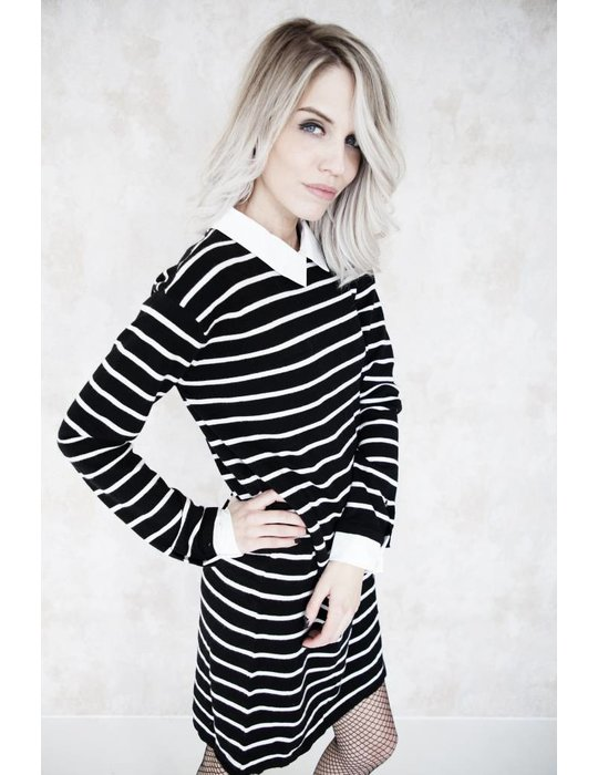 ZOE STRIPED BLACK