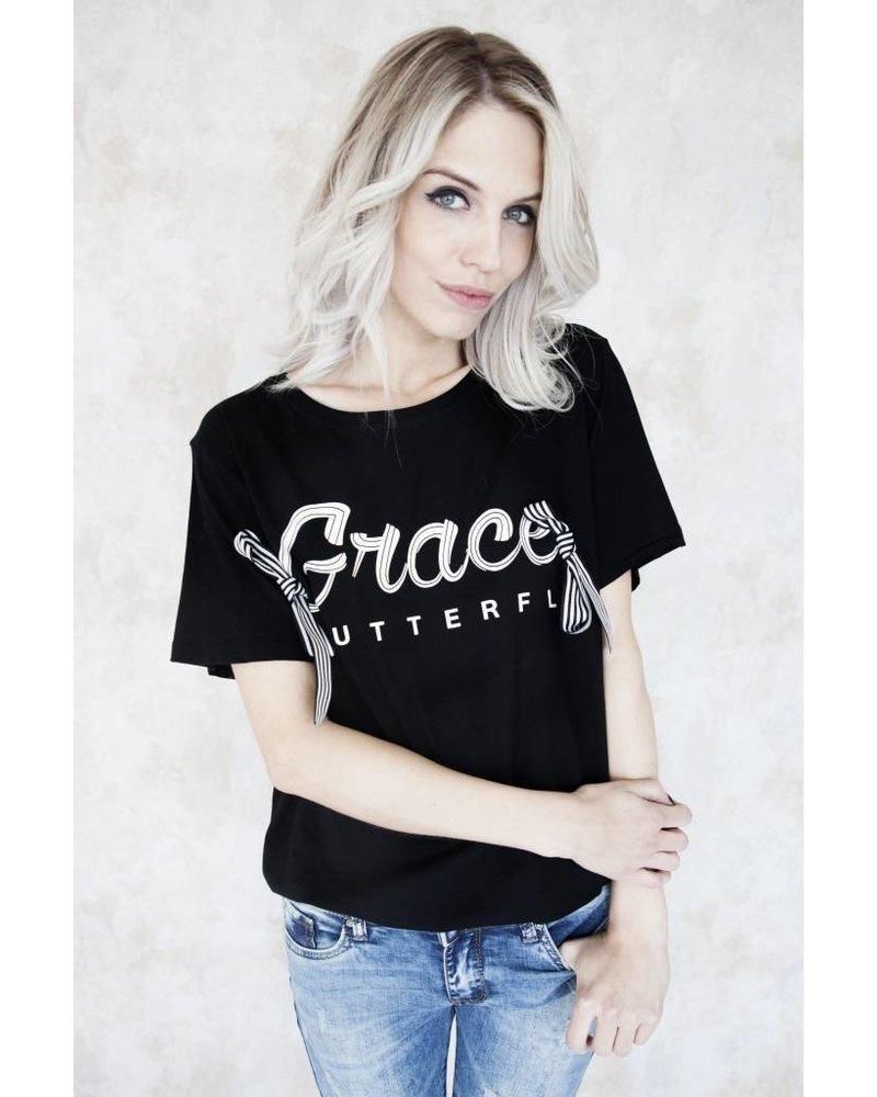 GRACE BLACK - T-SHIRT