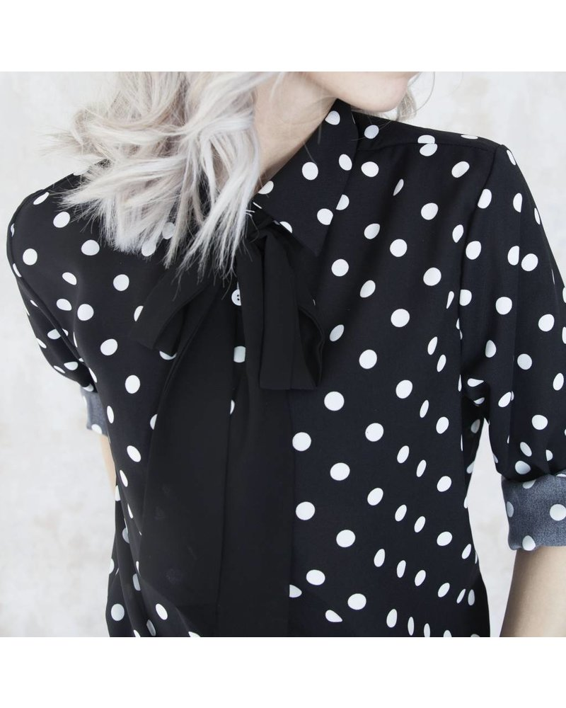 DOTS BLACK - BLOUSE