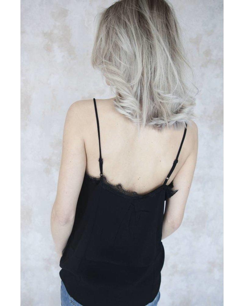 CINDY LACE BLACK - TOP