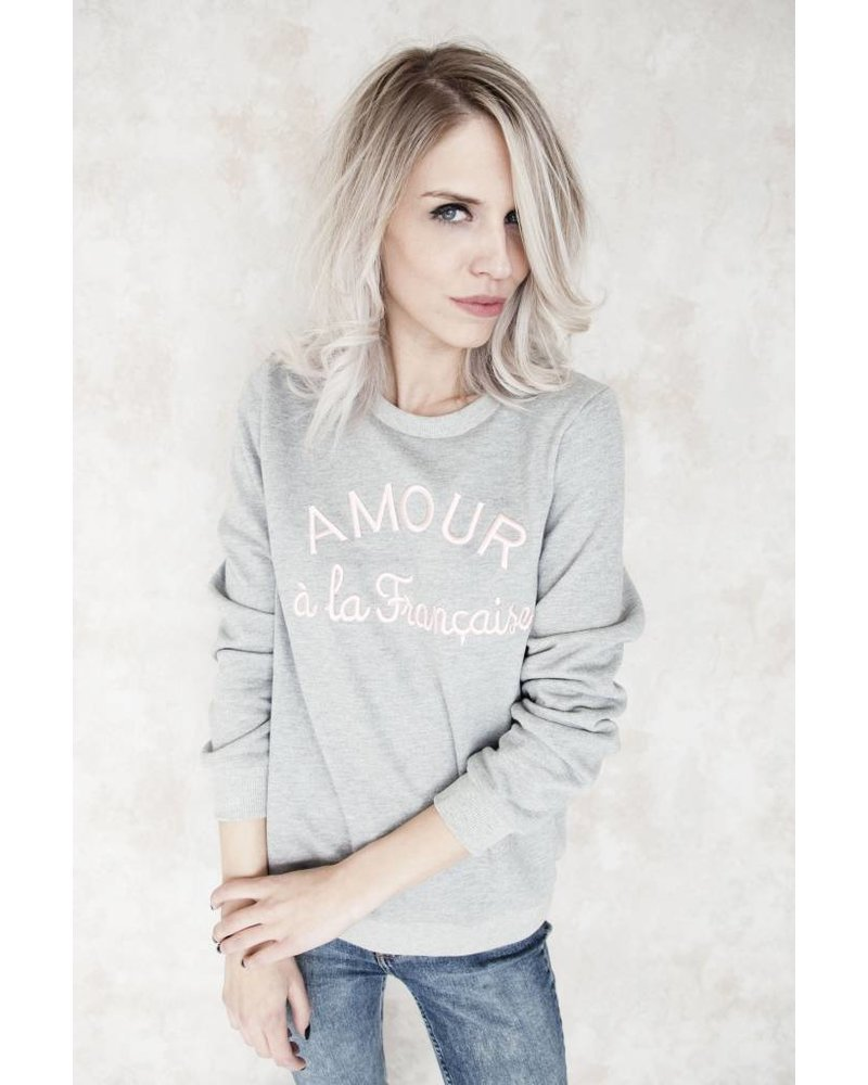 AMOUR GREY/PINK - SWEATER