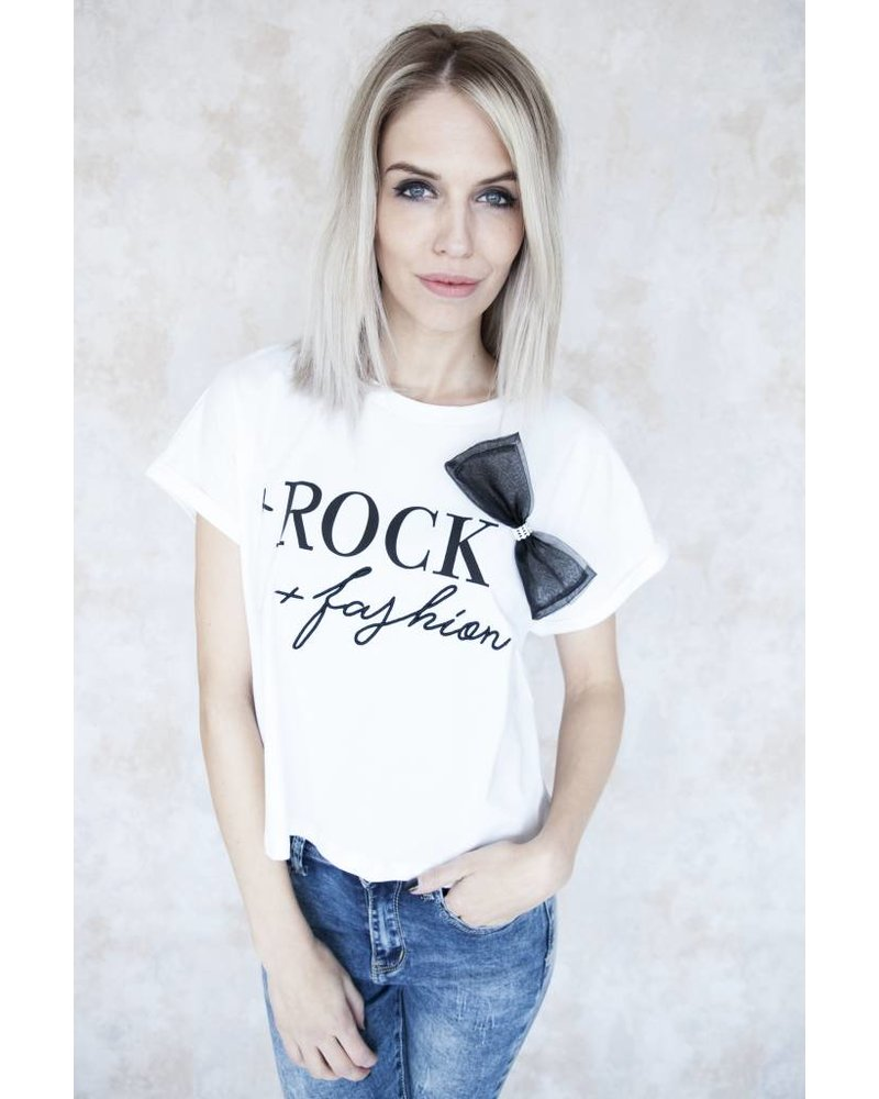 ROCK FASHION WHITE - T-SHIRT