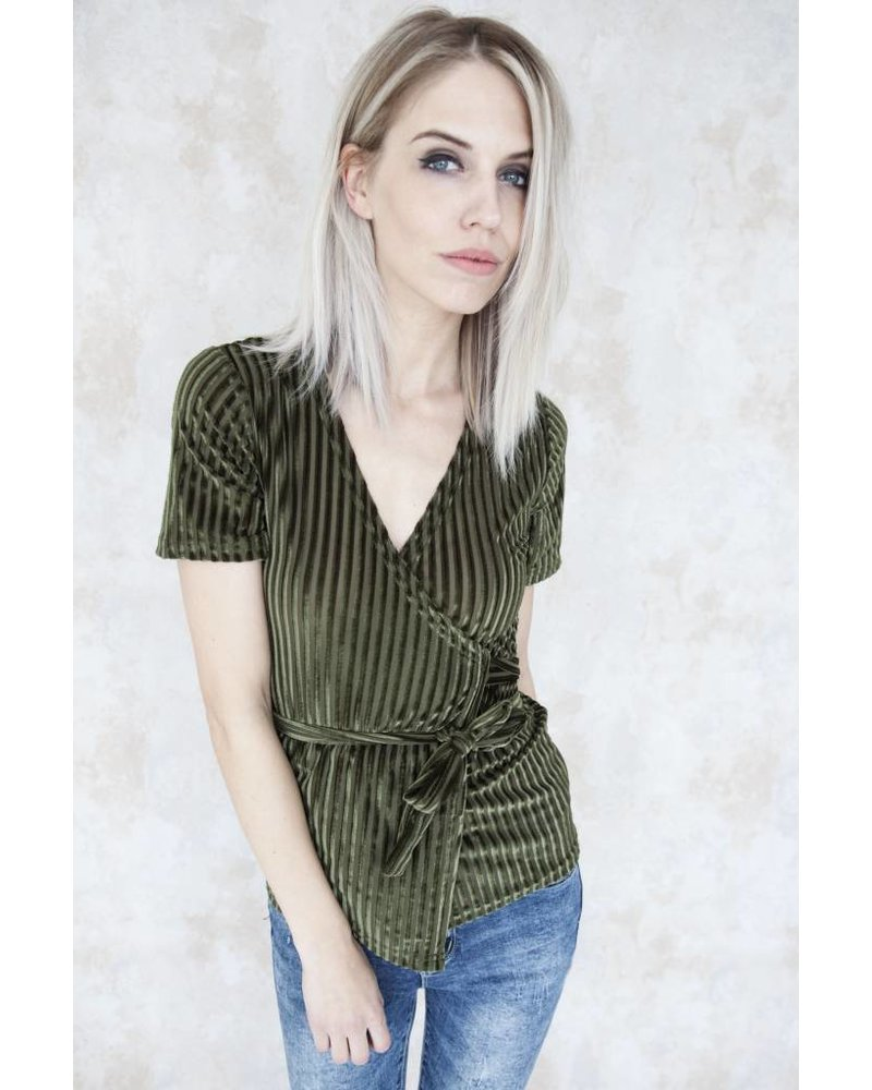 RUBY RIBBLE GREEN - BLOUSE