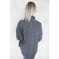 STATEMENT PEARLS GREY - BLOUSE