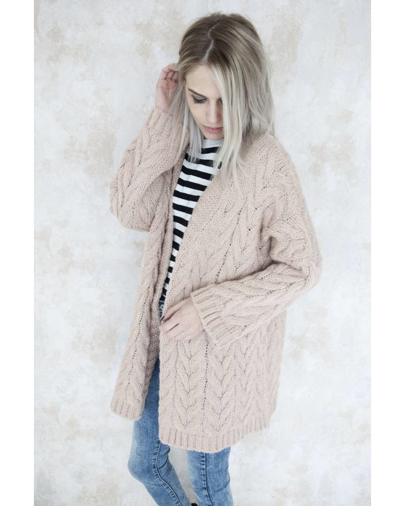 HEAVY KNIT OLD PINK - GILET