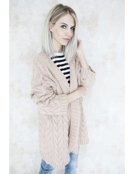 HEAVY KNIT OLD PINK