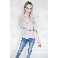 LOUISE TAUPE - BLOUSE