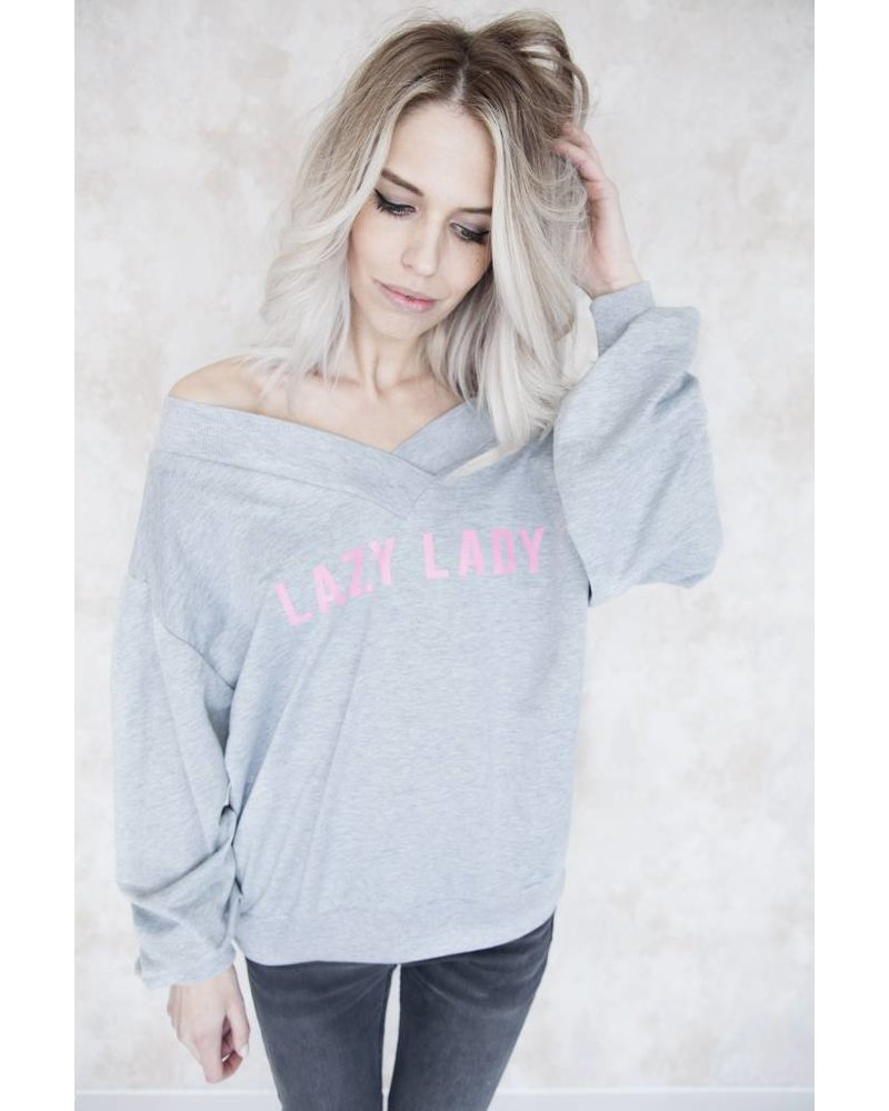LAZY LADY GREY - SWEATER