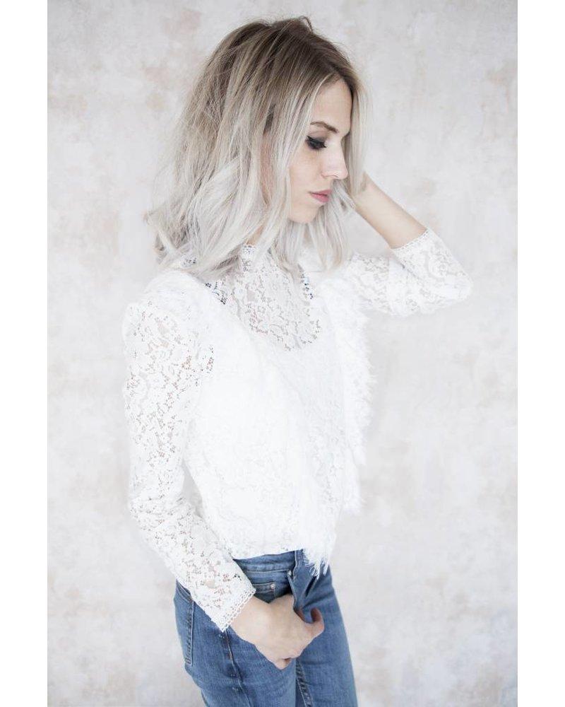 SO LACE WHITE - BLOUSE