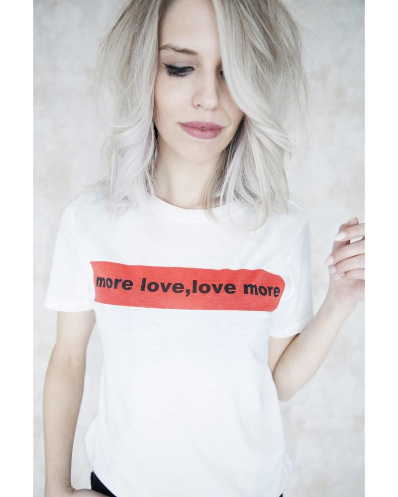 MORE LOVE WHITE - T-SHIRT