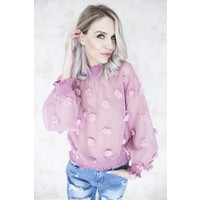KALINA OLD PINK - BLOUSE