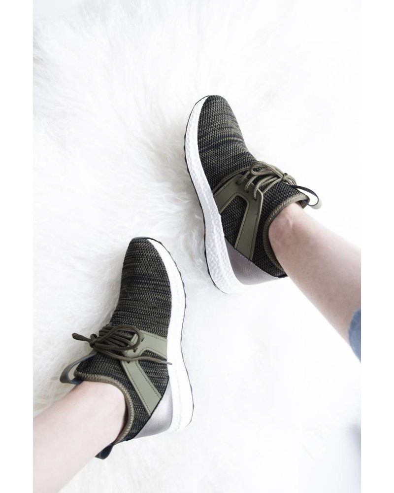 COMFY DAYS KAKI - SNEAKERS