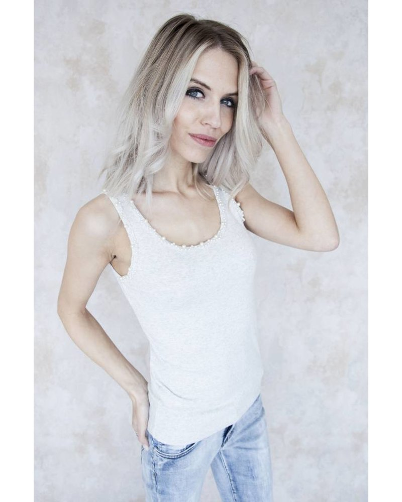CUTE PEARLS LIGHT GREY - TOP