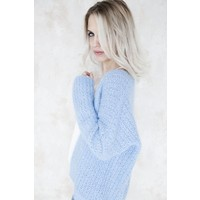 SPECIAL KNIT BABY BLUE - BERNADETTE