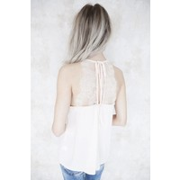 PRETTY IN LACE SOFT PINK - TOP