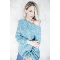NELLY TROPICAL BLUE - SWEATER