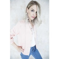 SILKY BOMBER PINK - JACKET