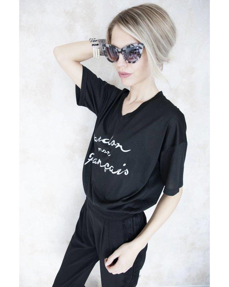PARDON BLACK - T-SHIRT