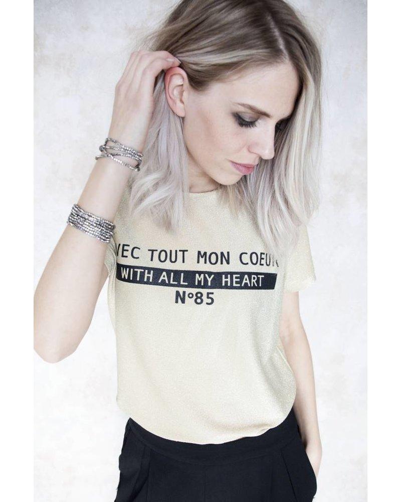 TOUT MON COEUR GOLD - T-SHIRT