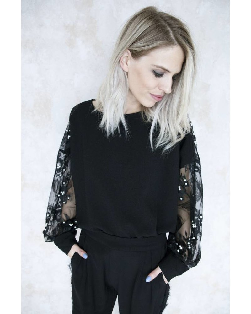 ALIZE PEARLS BLACK - BLOUSE
