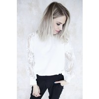 ALIZE PEARLS WHITE - BLOUSE