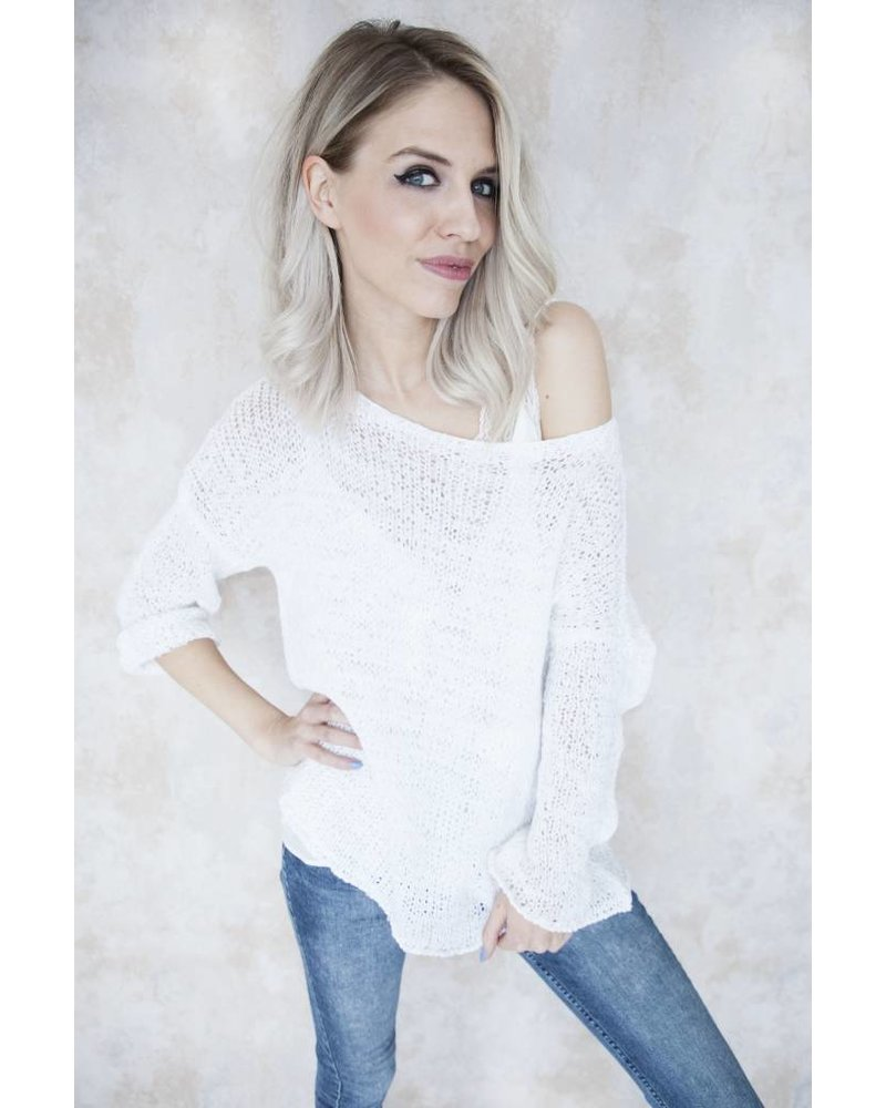 SUMMER KNIT SCOOP WHITE - TRUI