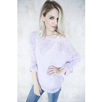 SUMMER KNIT SCOOP VIOLET - TRUI