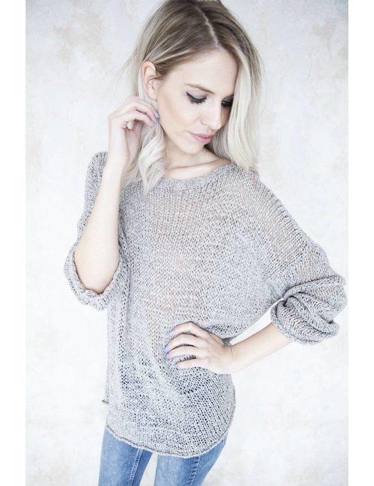 SUMMER KNIT SCOOP TAUPE