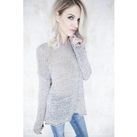 SUMMER KNIT SCOOP TAUPE - TRUI