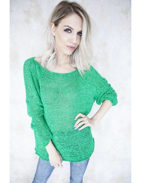 SUMMER KNIT SCOOP GREEN