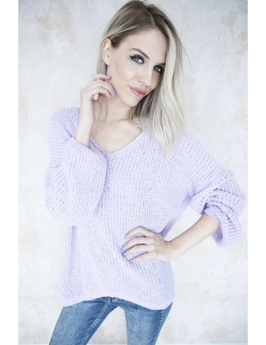 SUMMER KNIT V-NECK VIOLET