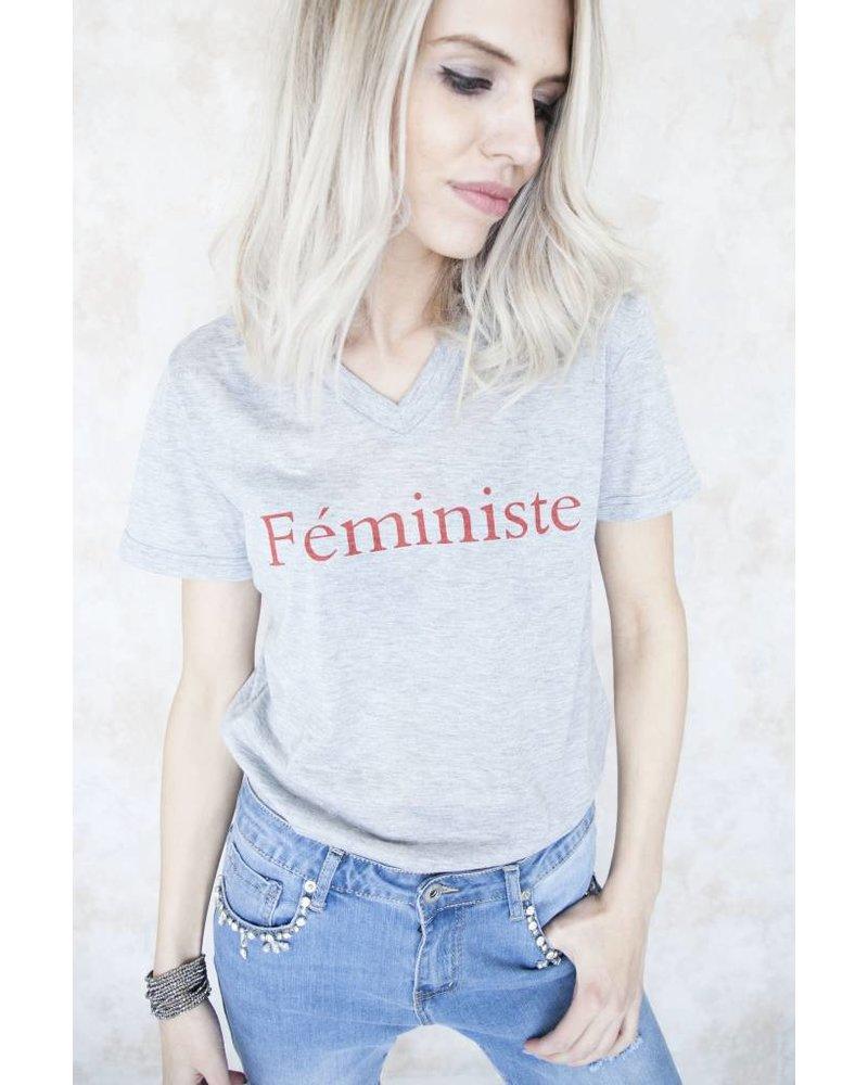 FEMINISTE GREY - T- SHIRT