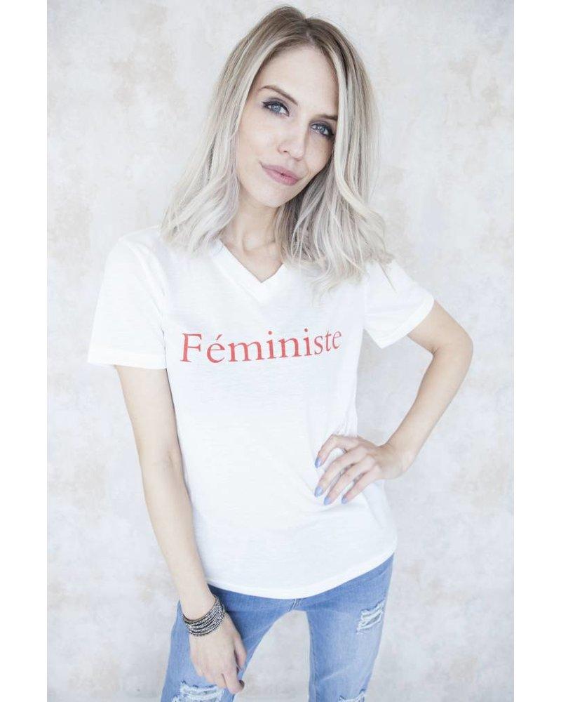 FEMINISTE WHITE - T-SHIRT