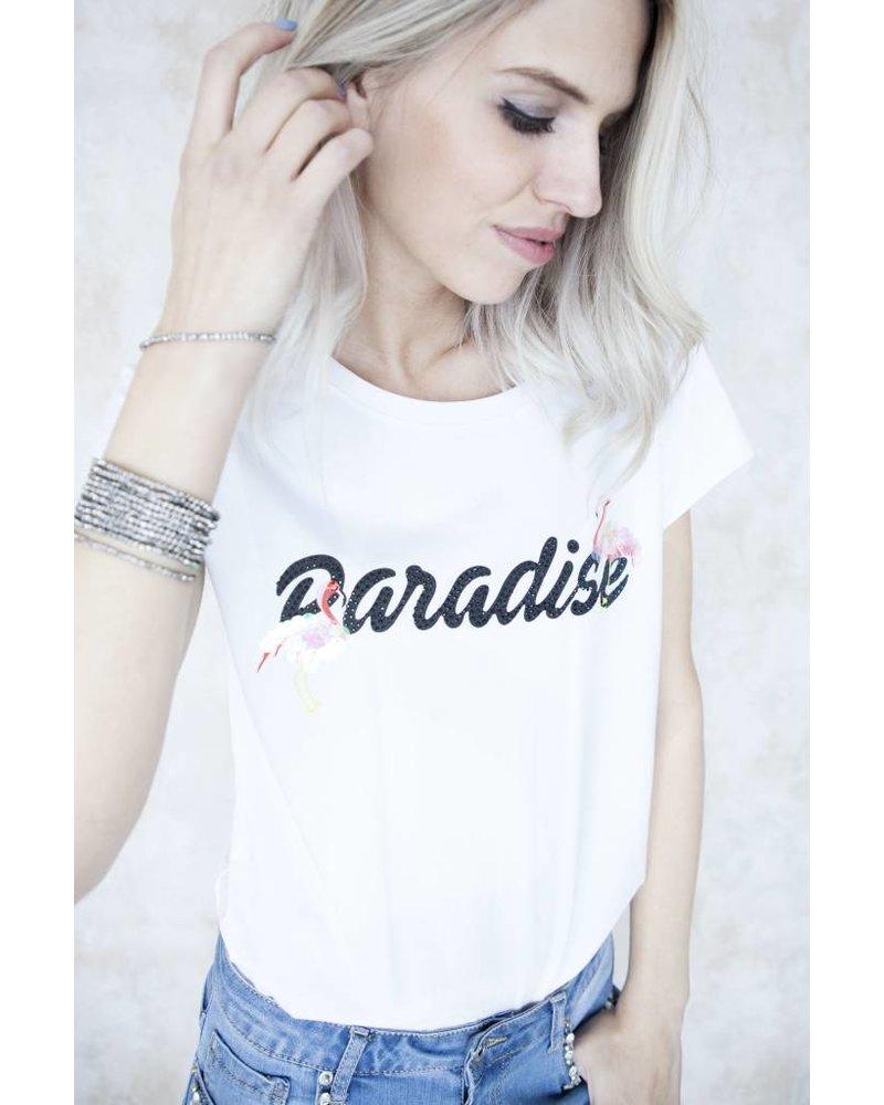 PARADISE WHITE - T-SHIRT