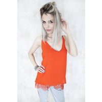 GAELLE RED - TOP