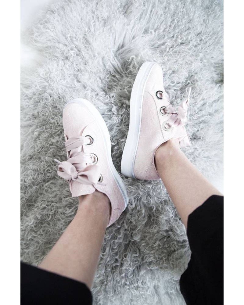 GLITTER LACE PINK - SNEAKERS