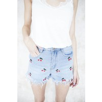 RED CHERRY JEANS - HOTPANTS
