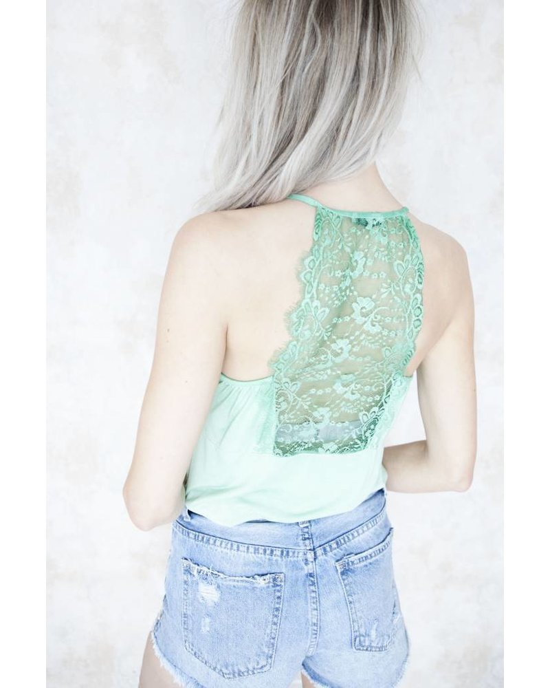 LIZZY LACE GREEN - TOP