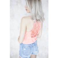 LIZZY LACE CORAL - TOP