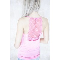 LIZZY LACE HOT PINK - TOP