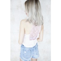 LIZZY LACE SOFT PINK - TOP