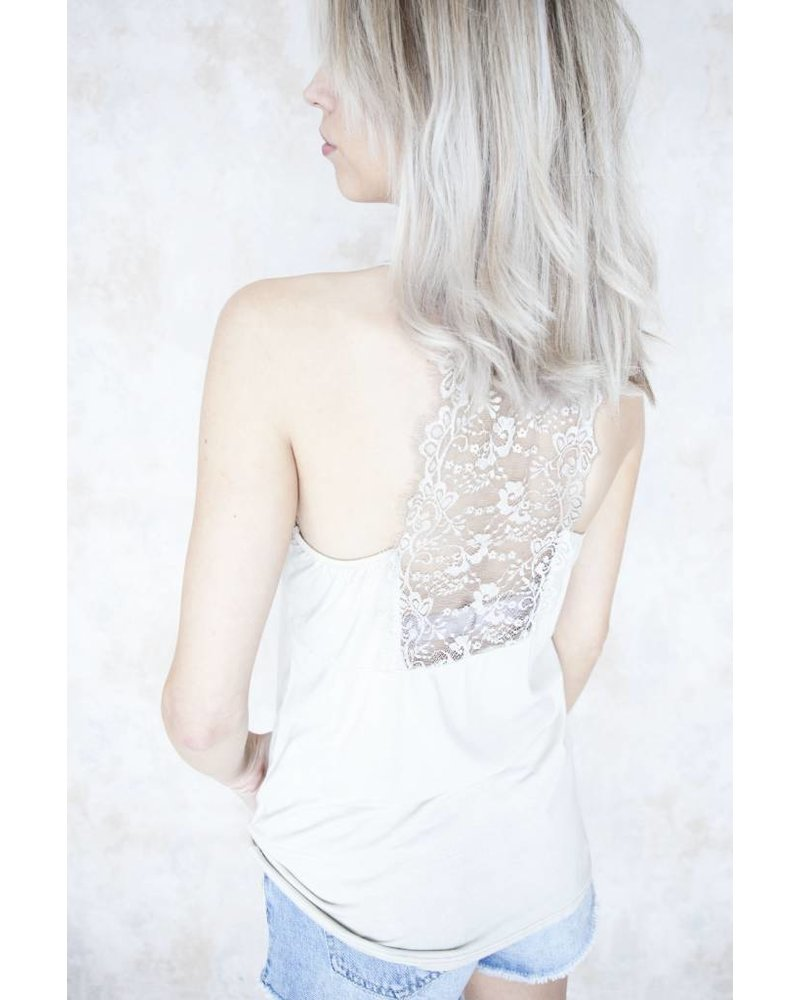 LIZZY LACE BEIGE - TOP