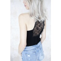 LIZZY LACE BLACK - TOP