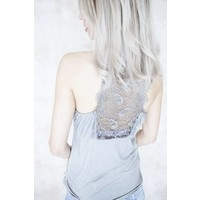 LIZZY LACE STONE GREY - TOP