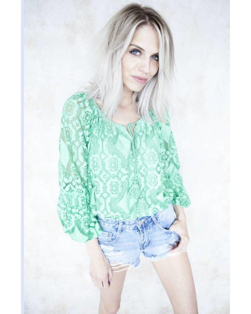 SUMMER EMMA GREEN - BLOUSE