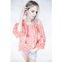 SUMMER EMMA CORAL - BLOUSE