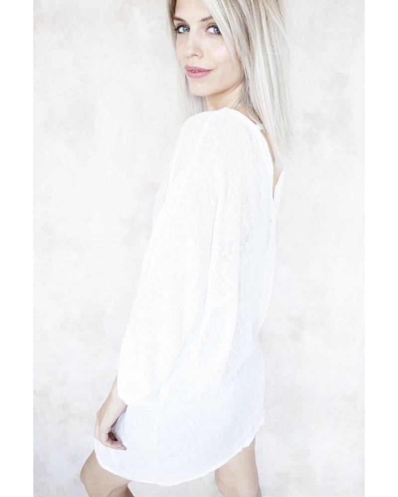 LONG MANON WHITE - TUNIEK